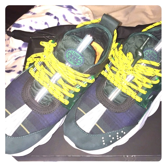 Versace Chain Reaction Sneakers Plaid